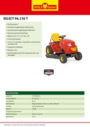 WOLF-Garten Selest 96.130 T 13TH76RF650 Leaflet