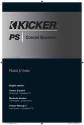 Kicker 2013 PS69 Coaxial Speakers Owner's Manual