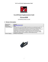 Ericsson R380 User Manual