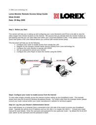 Lorex Technology Dlink DI-624 Installation Instruction
