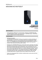 Medion AKOYA P5353 F 310017904 User Manual