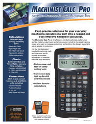 Calculated Industries Machinist Calc Pro 4087 Leaflet