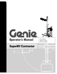 Genie SUPERLIFT 33547 User Manual
