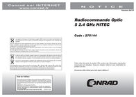Hitec Hendheld RC 2.4 GHz No. of channels: 5 110181 User Manual