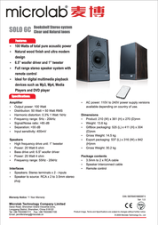 Microlab SOLO6C Leaflet