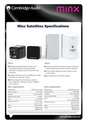 Cambridge Audio Minx Min 11 5055300406033 Leaflet