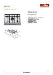 Mora VDP 775 X 390093 Leaflet