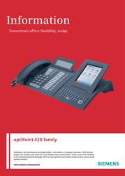 Siemens optiPoint 420 standard L30250-F600-A734 User Manual