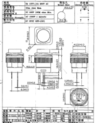 Sci Pushbutton 250 Vac 1.5 A 1 x Off/(On) momentary 1 pc(s) R13-508AL-05YL Data Sheet