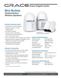 Grace Digital Audio Mini-Bullets II GDI-AQBLT300 Leaflet