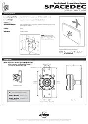 Atdec SPACEDEC Display Direct Wall SD-DW-DM-BK Leaflet