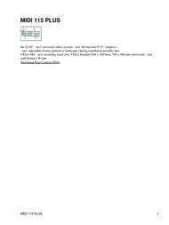 Hagor MIDI 115 PLUS Leaflet