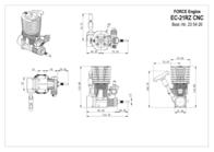 Force Engine FORCE 21 COMBUSTION MOTOR CNC EC-21RZ Data Sheet