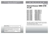 Mbs CTB 41.35 500/5A 5VA Kl.1 50-0059 Data Sheet