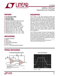 Linear Technology LT1220CS8 Linear IC SO8 Very High Speed Op Amp LT1220CS8 Data Sheet