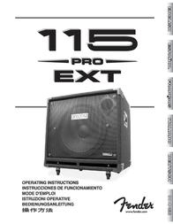 Fender 115 User Manual