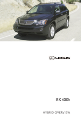 Lexus Automobile RX 400H User Manual