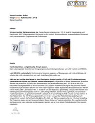 STEINEL L 270 S Data Sheet