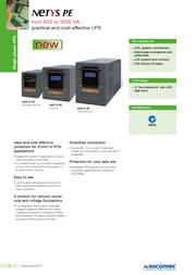 Socomec NETYS PE 1500VA NPE-1500-LCD-AU Leaflet
