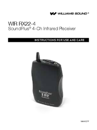 Williams Sound Universal Remote WIR RX22-4 User Manual