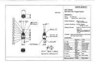 Miyama MS 500-BC-J 6A Miniature Toggle Switch, , MS 500-BC-J Data Sheet