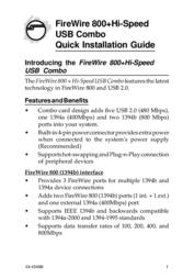 Sigma FireWire 800+Hi-Speed USB Combo NN-8US212-S2 User Manual