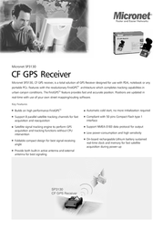 Micronet SP3130 CF GPS Receiver SP3130 Leaflet