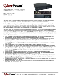 CyberPower OL1000RMXL2U Leaflet