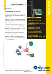 Digicom WinModem PCI V.92S 8E4222 Leaflet