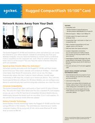 Socket Mobile 10/100 Ethernet CF Card EA2917-722 Leaflet