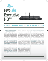 Revolabs Executive HD 03-HDEXEC4EU-NM-1Y Leaflet