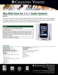 Channel Vision AB-315 Leaflet