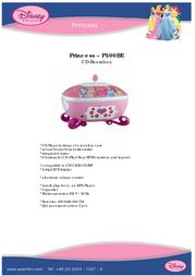 Disney P500BE 产品宣传页