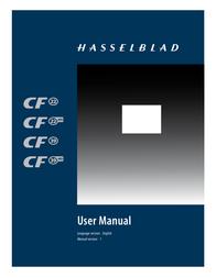 Hasselblad CF22 CF39 User Manual