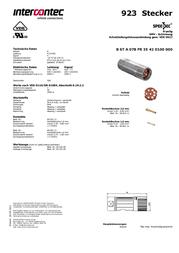 Intercontec BSTA078FR35420100C00 24 / 7 A BSTA078FR35420100C00 Data Sheet