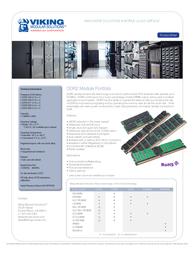 Viking DDR2-SDRAM PC 6400 1024MB 240PIN DDR2-800-1024-240 Leaflet