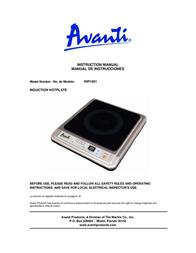 Avanti IHP1501 Manual De Usuario