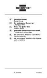 Brennenstuhl Remote Control Set RCS 1000 N Comfort 1507450 User Manual