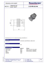 Rosenberger Terminator 51S1RR-001N4 Silver 1 pc(s) 265003 Data Sheet