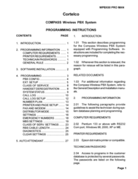 Cortelco WPBX00 PRO MAN User Manual