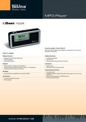 Trekstor i.Beat rock 1GB 21618 Leaflet