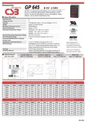 CSB GP645 Leaflet