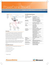PowerDsine PD-3504G/AC Leaflet