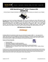 Offspring Technologies GXQUC-06 12 in 1 Camera Kit GXQUC-06 Leaflet