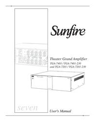 Sunfire TGA7401 User Manual