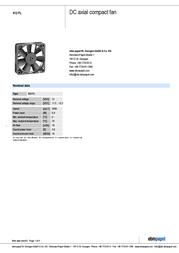 Papst 612 FL Data Sheet