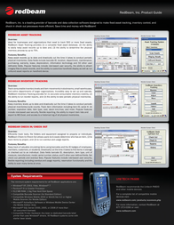 RedBeam Inventory Tracking Standard Edition RB-SIT-5 Leaflet