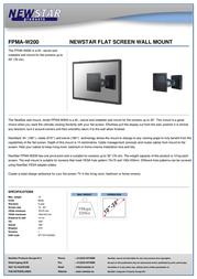 Newstar LCD/LED/TFT wall mount FPMA-W200 Leaflet
