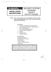 Subaru LEGACY H7110LS200 User Manual