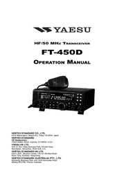 Yaesu FT-450D User Manual